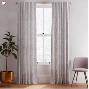 NEW WEST ELM CURTAINS SET OF 2!